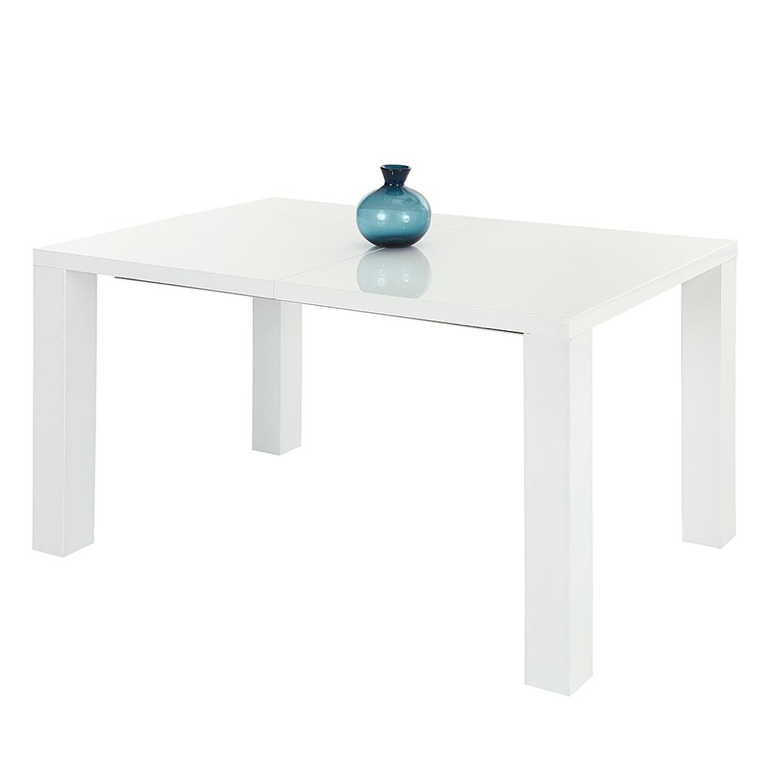 Home Design Eettafel Jolina (uitschuifbaar) - hoogglans wit (Afmetingen: 140/180x90cm) Home24