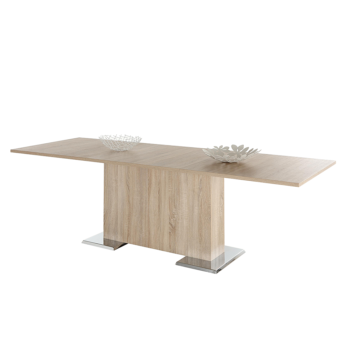 Home Design Eettafel Rufus - uitschuifbaar - eikenhoutkleurig Home24