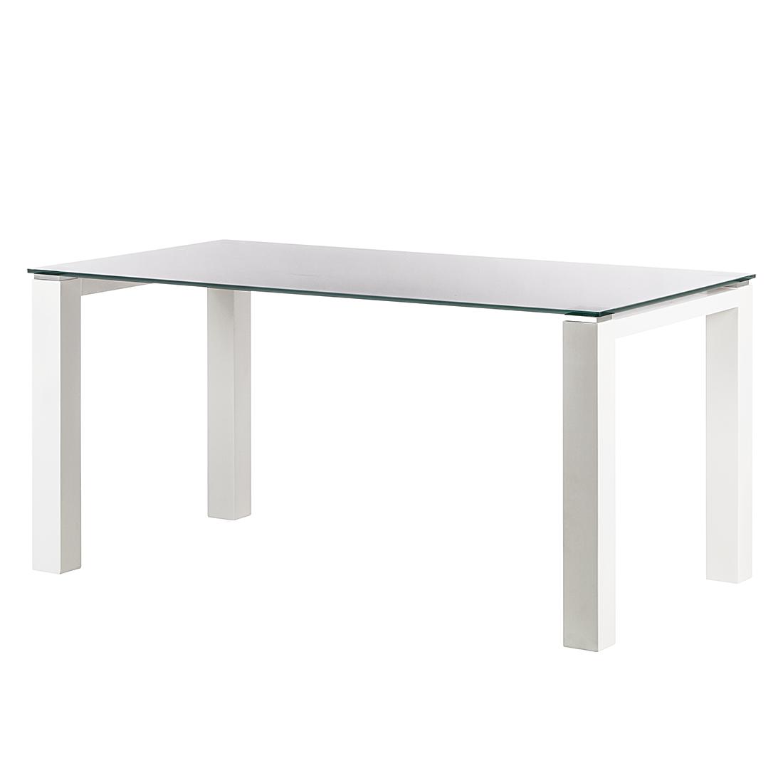 Niehoff Glazen tafel Palma - wit gelakt glas/wit (Afmetingen: 90x90cm) Home24