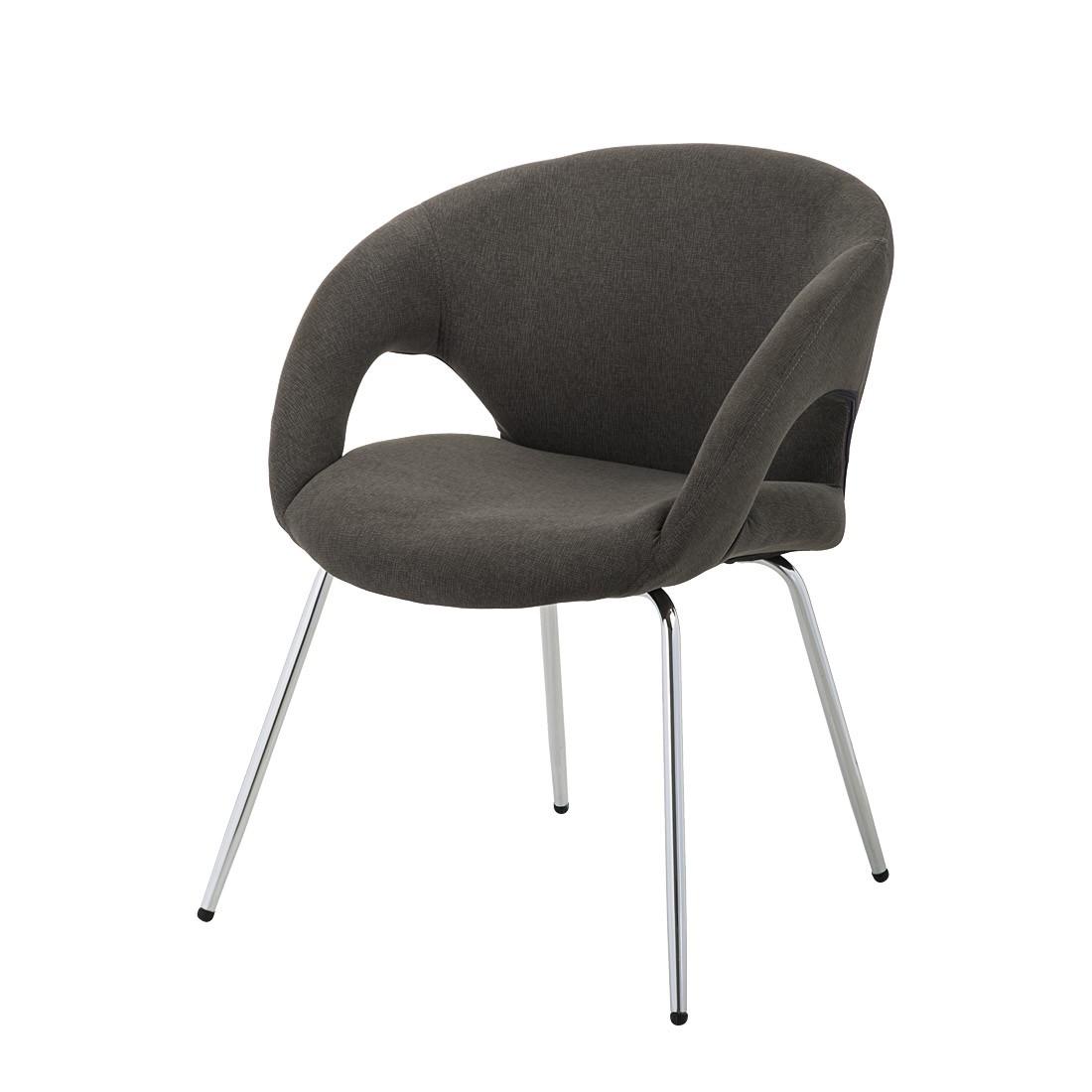 esszimmerst hle leder grau. Black Bedroom Furniture Sets. Home Design Ideas