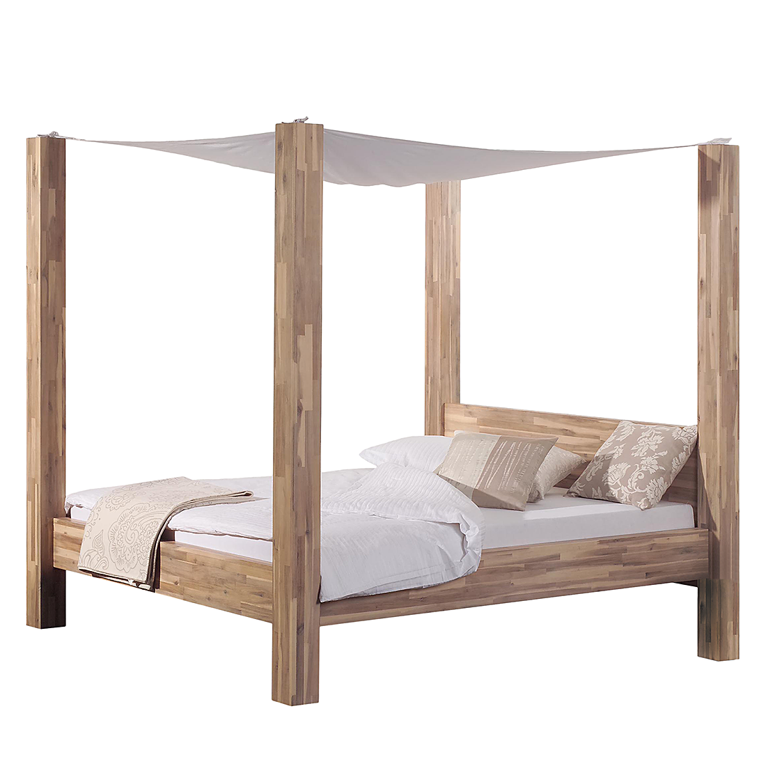 himmelbett holz dunkel inspiration f r. Black Bedroom Furniture Sets. Home Design Ideas