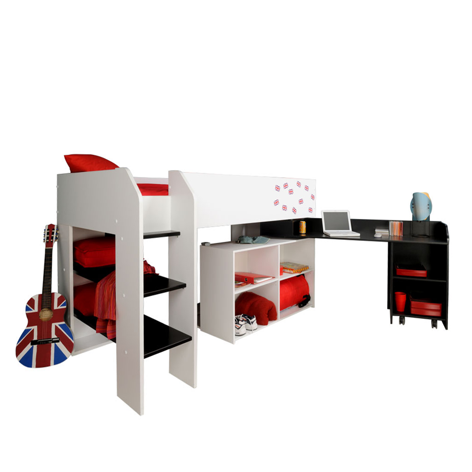 shopping liga m bel profi hochbett colona wei. Black Bedroom Furniture Sets. Home Design Ideas