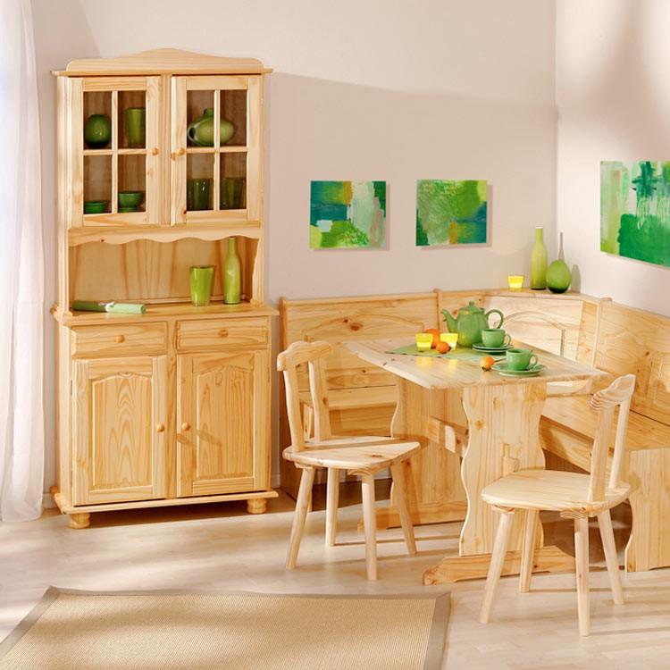 Credenza vetrina cucina legno pino massiccio naturale 2 ante mobiliarredoline - Mobili in pino naturale ...