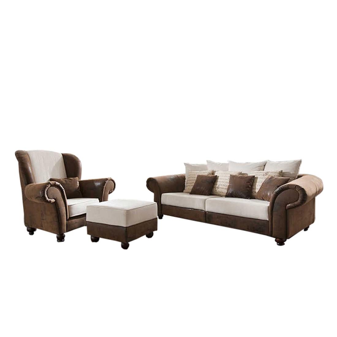 Malerisch Sofa Und Sessel Ideen Von King George Polstergarnitur 3 Teilig 3 Sitzer