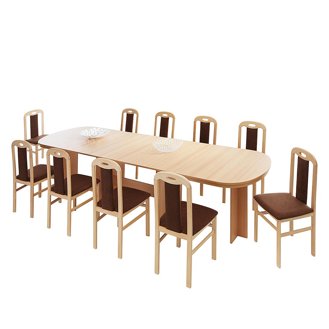 Home Design Coulissetafel Marianne - met uitschuifbaar tafelblad - beukenhoutimitatie Home24