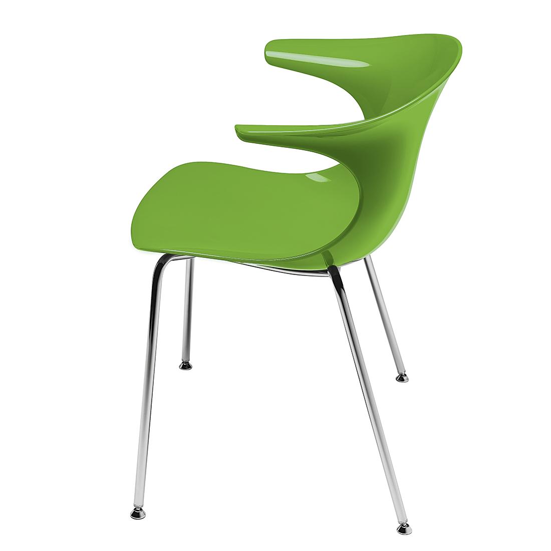 Infiniti Kuipstoel Loop (2-delige set) - met armleuningen - groen Home24