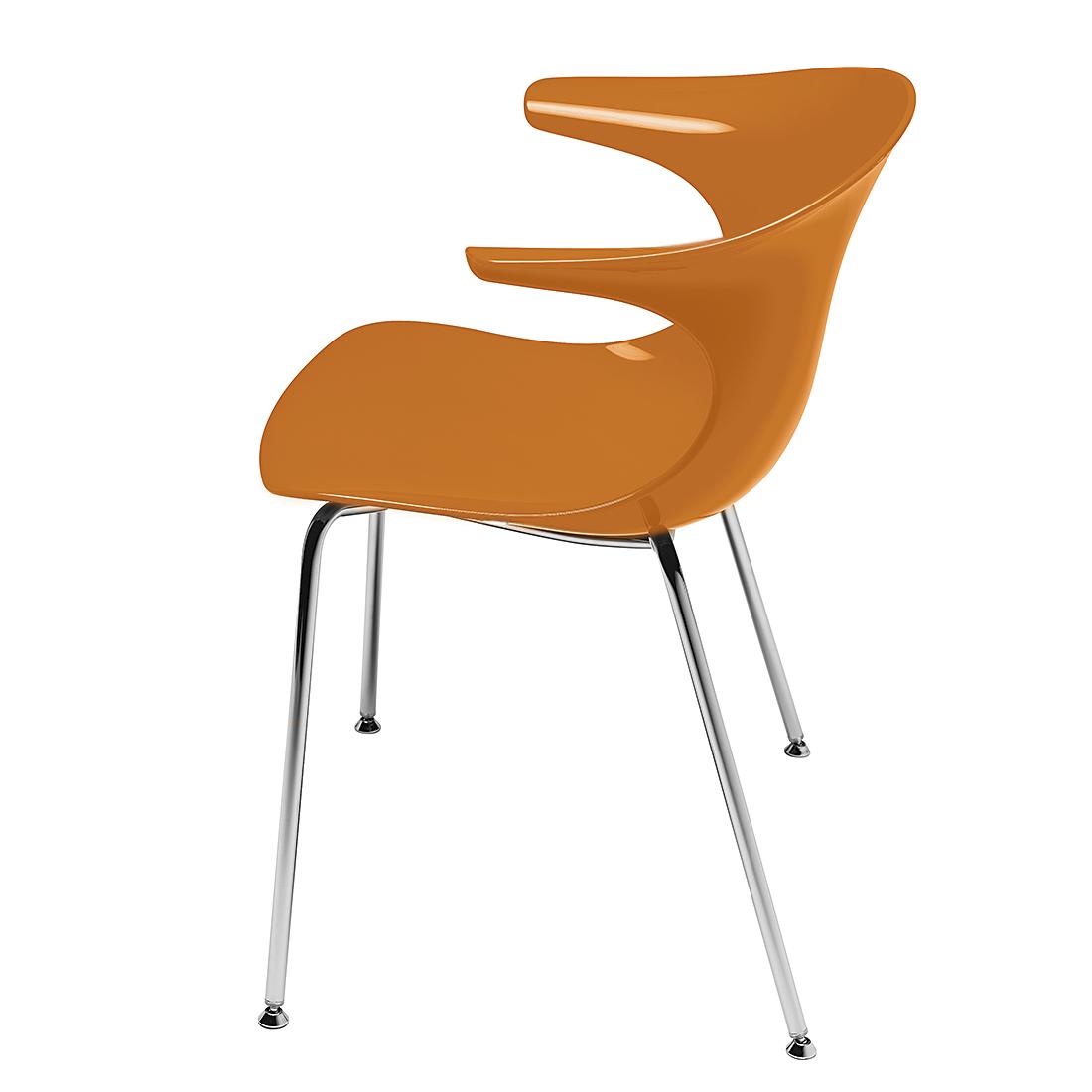 Infiniti Kuipstoel Loop (2-delige set) - met armleuningen - oranje Home24