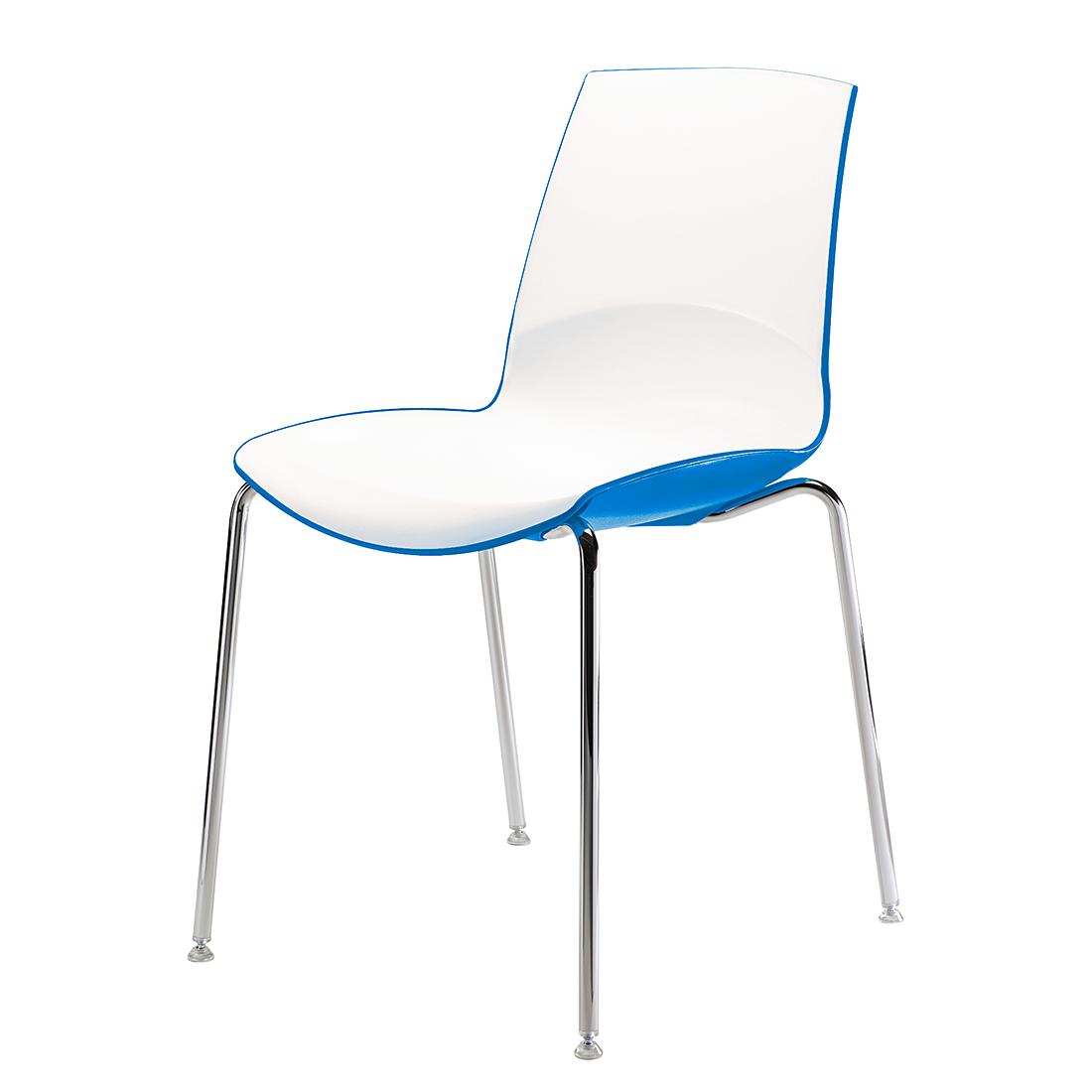 Infiniti Kuipstoel Now (2-delige set) - wit/blauw Home24