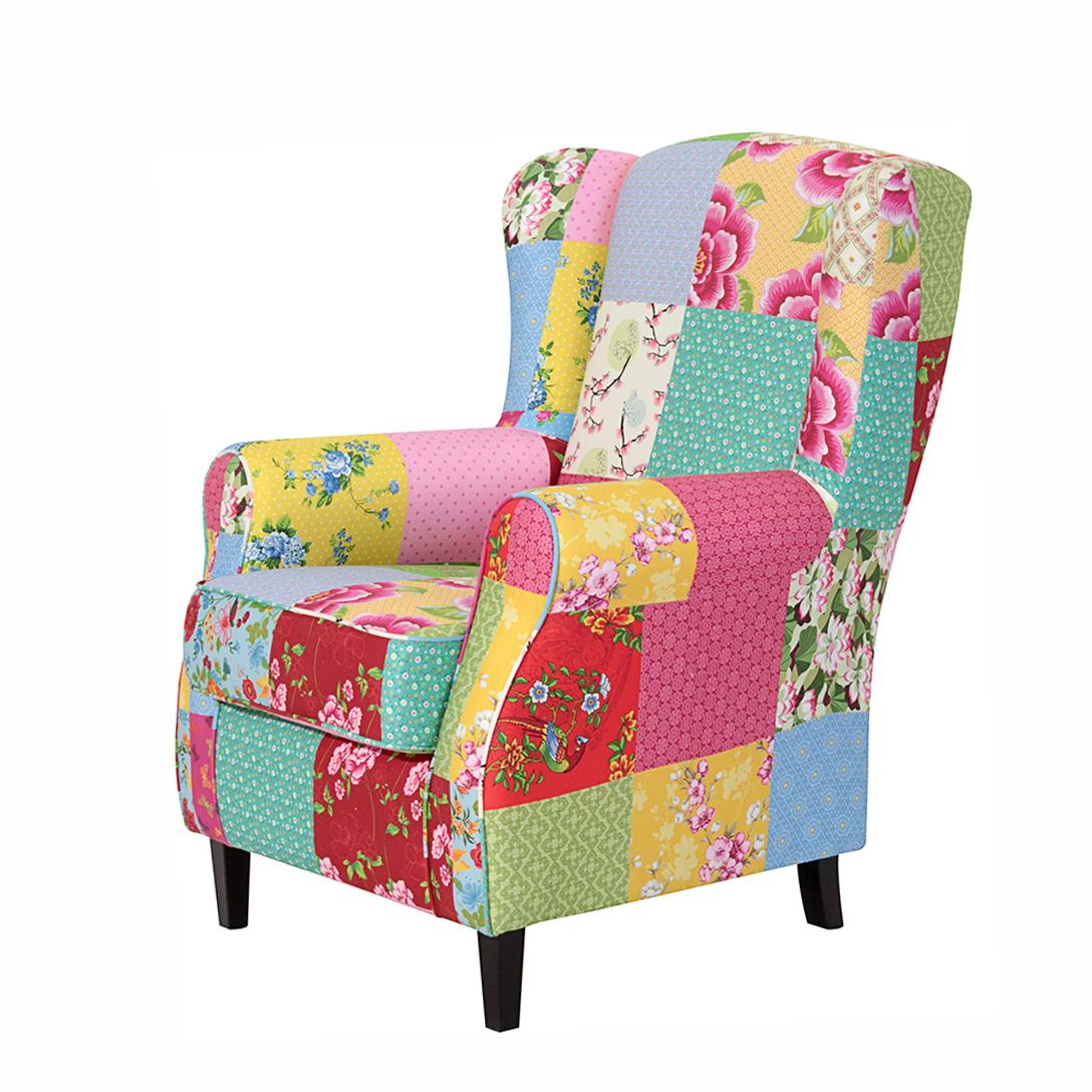 Sessel patchwork badezimmer schlafzimmer sessel for Wohnlandschaft bunt