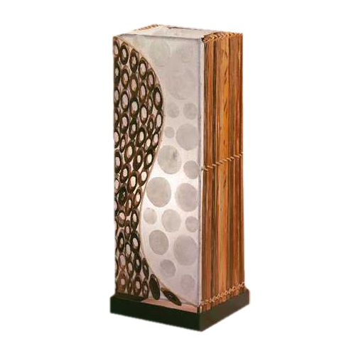 EEK A++, Stehleuchte Abuja – 1-flammig – handgefertigt/Energiesparleuchtmittel – Perlmut und Bambusringe, Paul Neuhaus kaufen