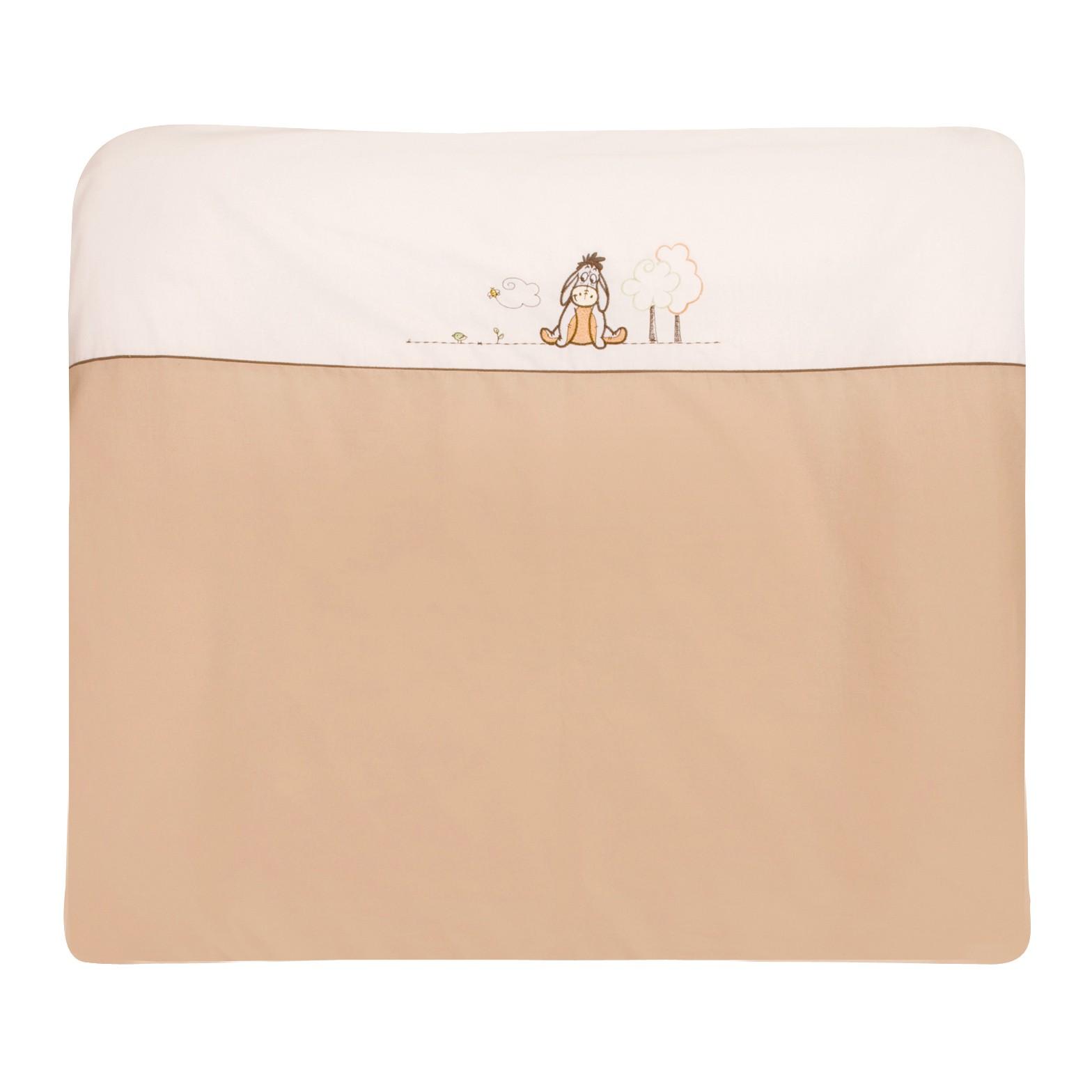 Wickelauflagenbezug Adorable Pooh - 100% Baumwolle - Weiß/Creme mit Applikation