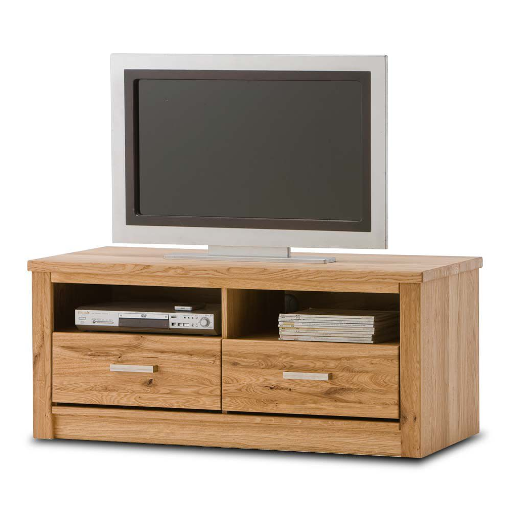 tv lowboard antonia mit 2 schubk sten asteiche massiv. Black Bedroom Furniture Sets. Home Design Ideas