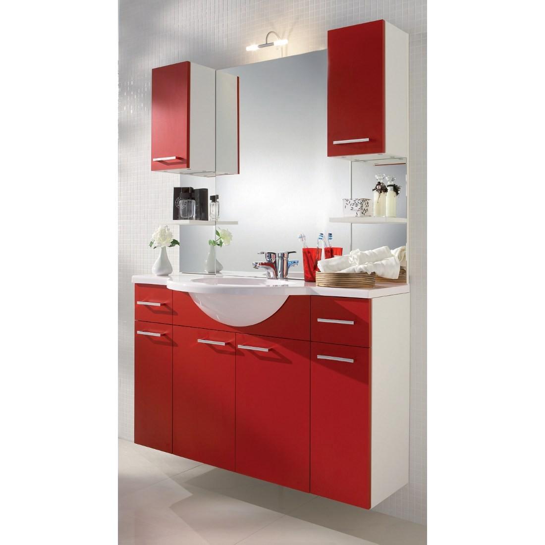 waschplatz auro mit spiegel inkl beleuchtung wei rot mit beleuchtung. Black Bedroom Furniture Sets. Home Design Ideas