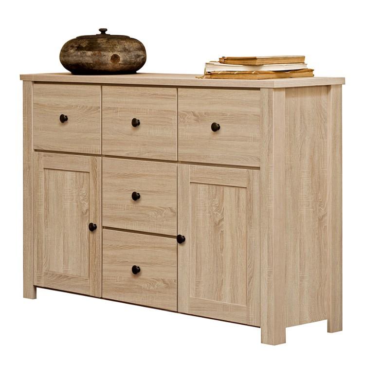 sideboard acasa 2 t ren 5 schubladen eiche dekor sideboard acasa eiche dekor 2. Black Bedroom Furniture Sets. Home Design Ideas