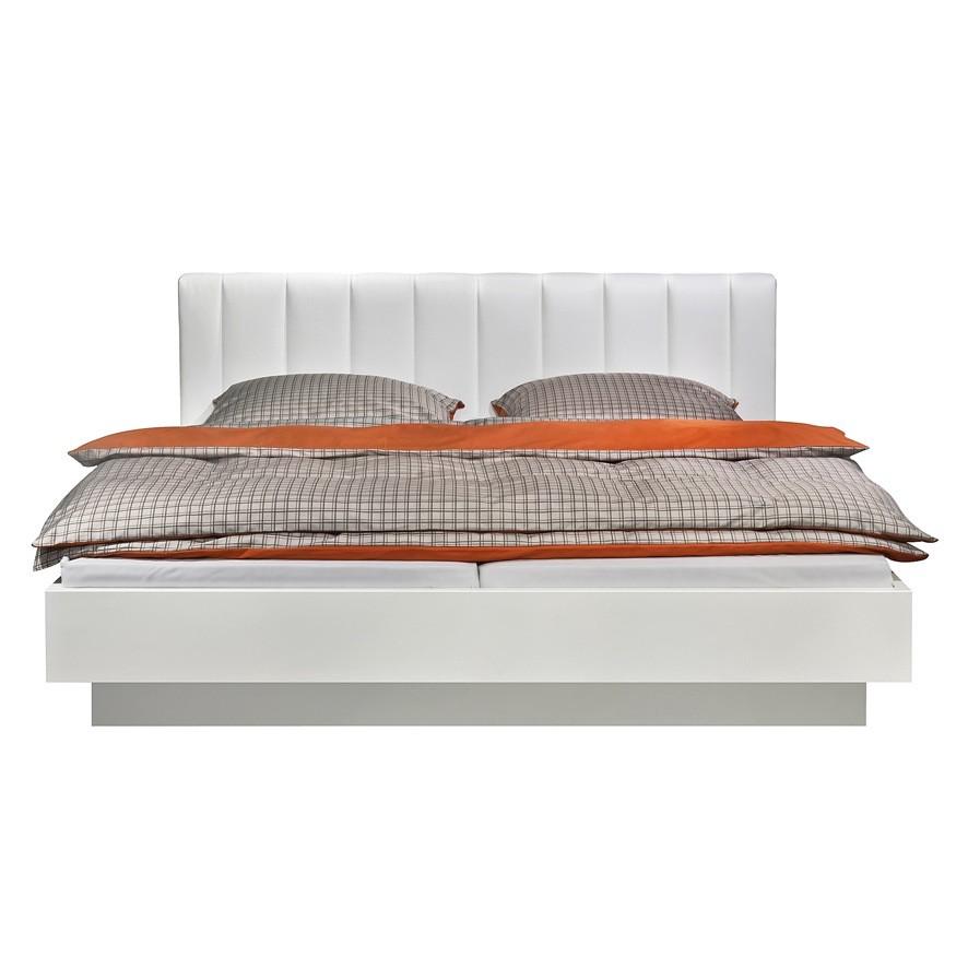 bett choice mit schwebesockel polsterkopfteil dekor wei kunstleder wei liegefl che. Black Bedroom Furniture Sets. Home Design Ideas