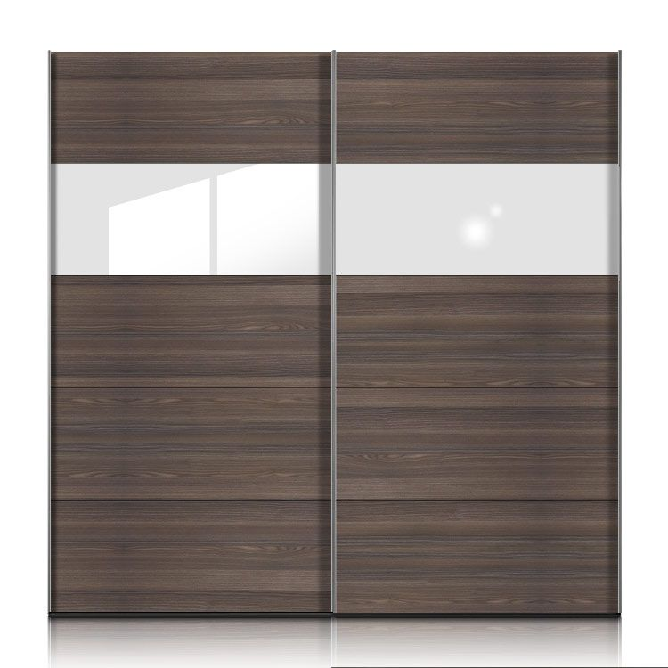 schwebet renschrank inline esche dunkel glas weiss. Black Bedroom Furniture Sets. Home Design Ideas