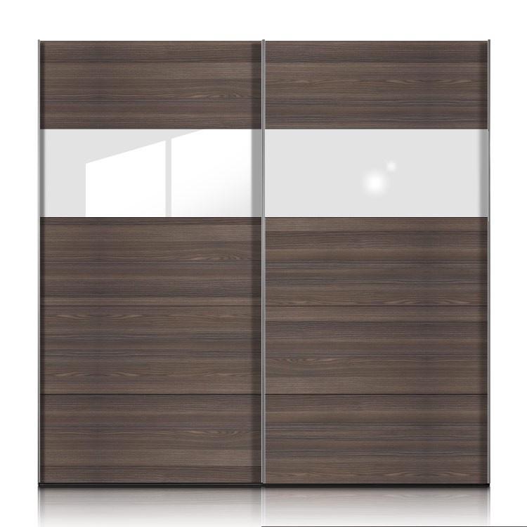 schwebet renschrank inline esche dunkel glas weiss breite 302cm. Black Bedroom Furniture Sets. Home Design Ideas