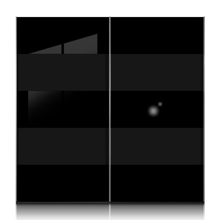 schwebet renschrank inline schwarz glas schwarz breite 302 cm. Black Bedroom Furniture Sets. Home Design Ideas