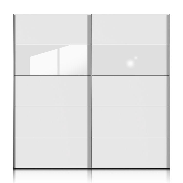 schwebet renschrank inline weiss glas weiss breite 302 cm. Black Bedroom Furniture Sets. Home Design Ideas