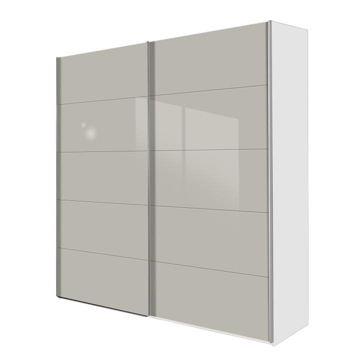 schwebet renschrank inline glas steingrau wei breite 152 cm. Black Bedroom Furniture Sets. Home Design Ideas