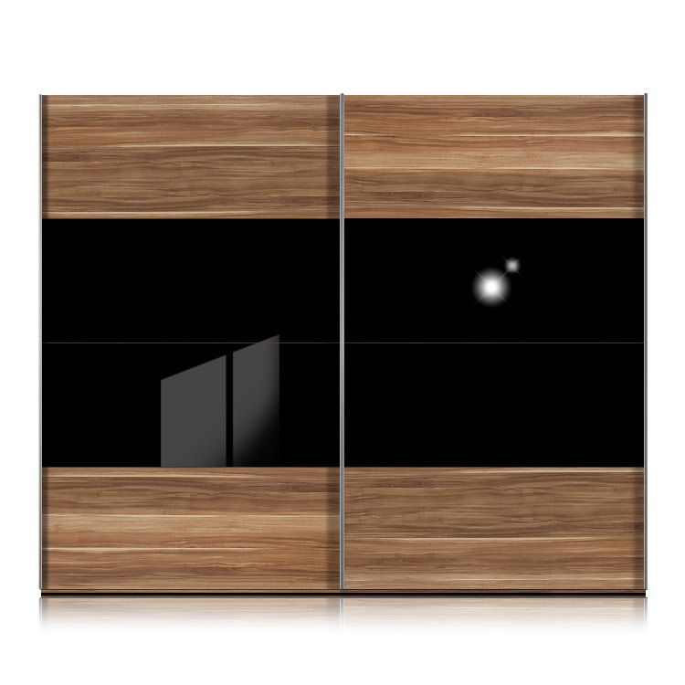 schwebet renschrank kick nussbaum glas schwarz nussbaum mit glas schwarz rahmen schwarz. Black Bedroom Furniture Sets. Home Design Ideas