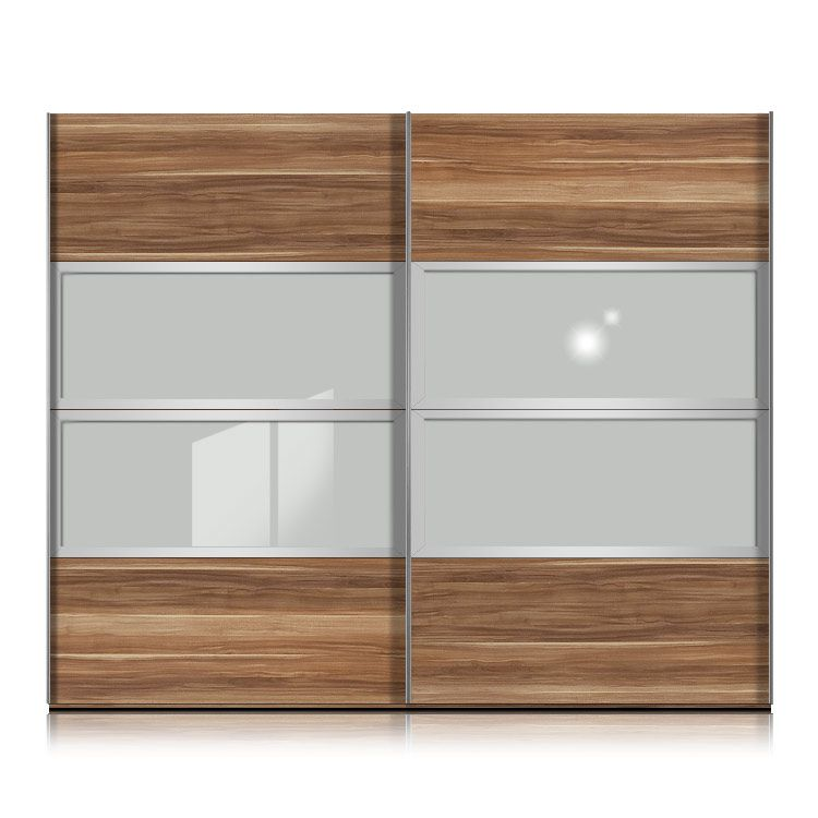 schwebet renschrank kick nussbaum floatsicherheitsglas rahmen silber breite 252 cm schrank. Black Bedroom Furniture Sets. Home Design Ideas