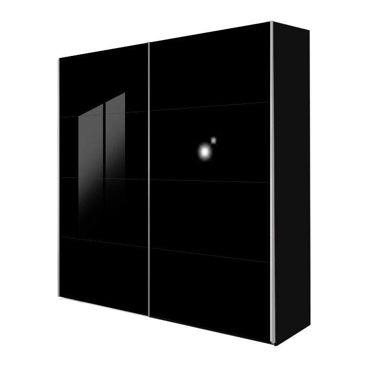 schwebet renschrank kick schwarz glas schwarz breite 152 cm. Black Bedroom Furniture Sets. Home Design Ideas
