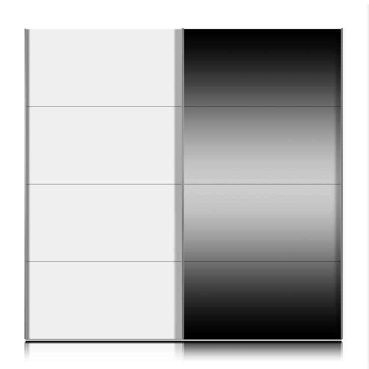schwebet renschrank kick weiss dekor mit spiegel breite 202 cm. Black Bedroom Furniture Sets. Home Design Ideas