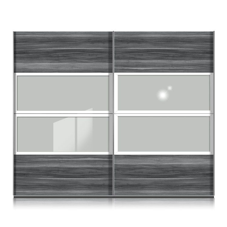 schwebet renschrank kick nussbaum grau floatsicherheitsglas rahmen weiss breite 302 cm. Black Bedroom Furniture Sets. Home Design Ideas