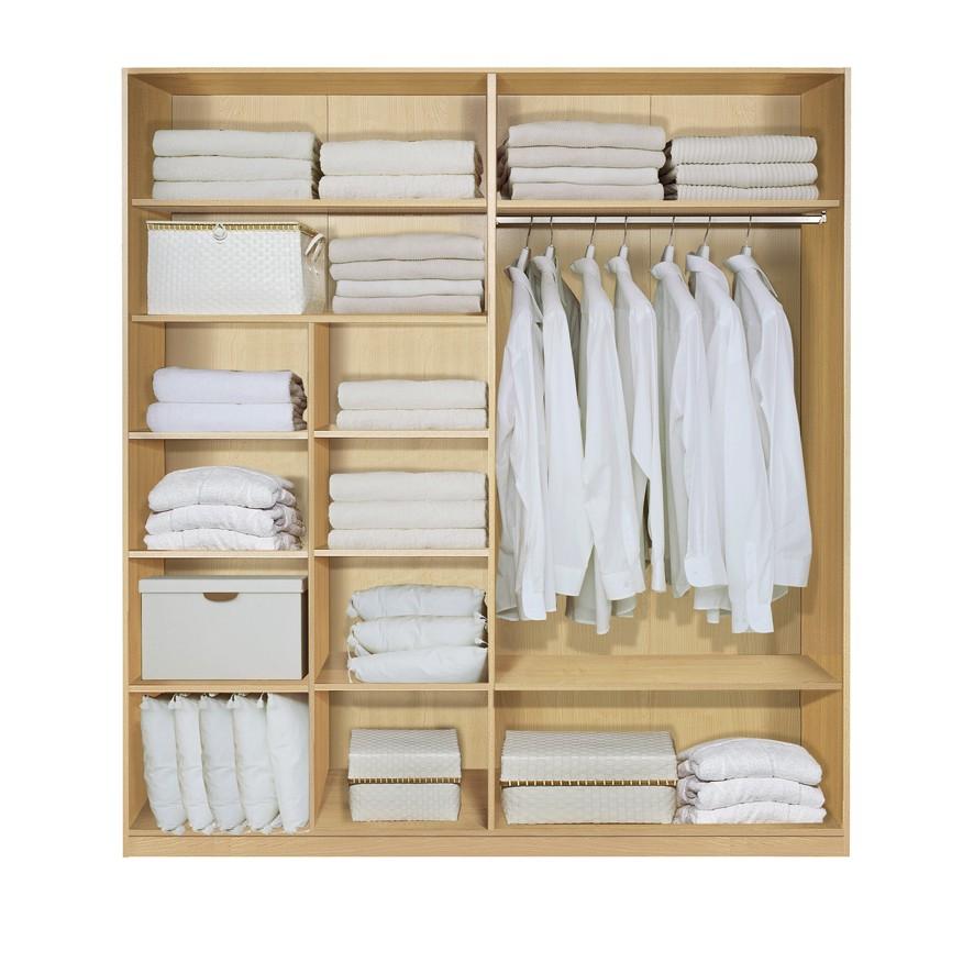 Komplett Set Inneneinrichtung OPTION 14 für Kleiderschränke 202cm - Schrankteilbreiten 102 / 100cm