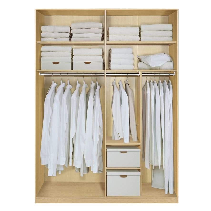 komplett set inneneinrichtung option 3 f r kleiderschr nke 202cm schrankteilbreiten 102. Black Bedroom Furniture Sets. Home Design Ideas