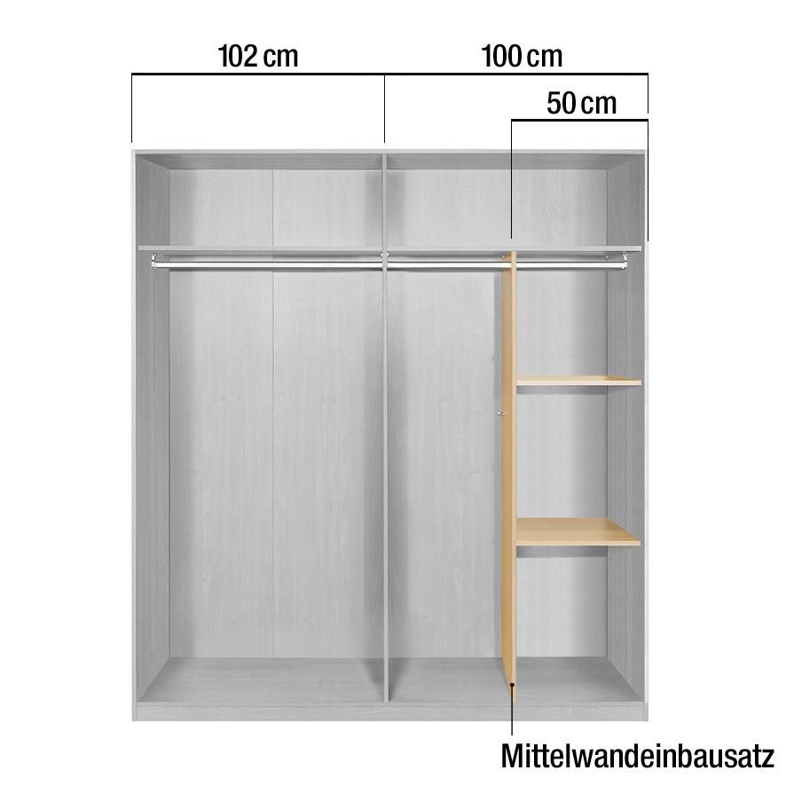 Mittelwandeinbausatz - für Schrankteilbreite 100/102cm