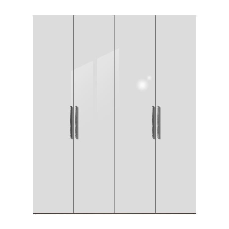 Kleiderschrank weiß hochglanz 2 türig  Drehtürenschrank Multimatch H236 - Weiß/Weiß Hochglanz ...