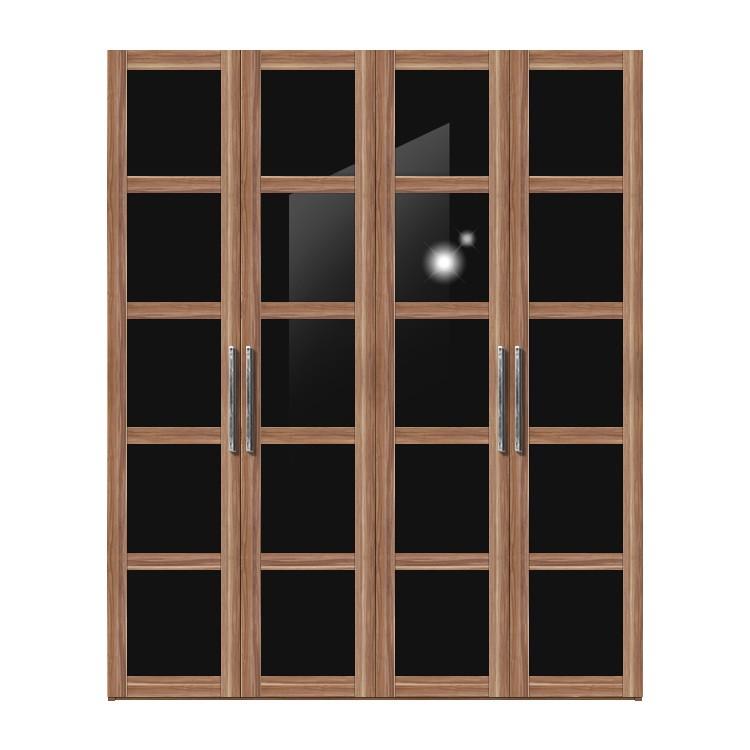 dreht renschrank multimatch h236cm nussbaum dekor schwarz schrankbreite 152 cm 3 t rig. Black Bedroom Furniture Sets. Home Design Ideas