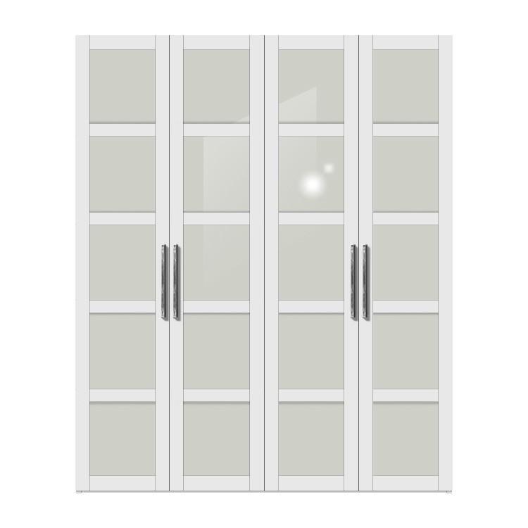Drehtürenschrank Multimatch H236 – Alpinweiß/Glas – Schrankbreite: 152 cm – 3-türig, Arte M günstig online kaufen