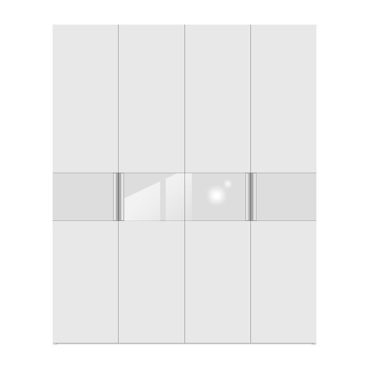 Drehtürenschrank Multimatch H213 – Alpinweiß – Schrankbreite: 252 cm – 5-türig, Arte M günstig kaufen