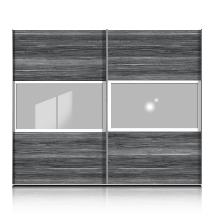 schwebet renschrank trio plus nussbaum grau floatglas wei breite 352 cm. Black Bedroom Furniture Sets. Home Design Ideas