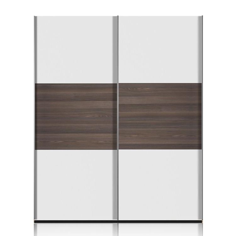 schwebet renschrank trio weiss esche dunkel breite 152cm. Black Bedroom Furniture Sets. Home Design Ideas