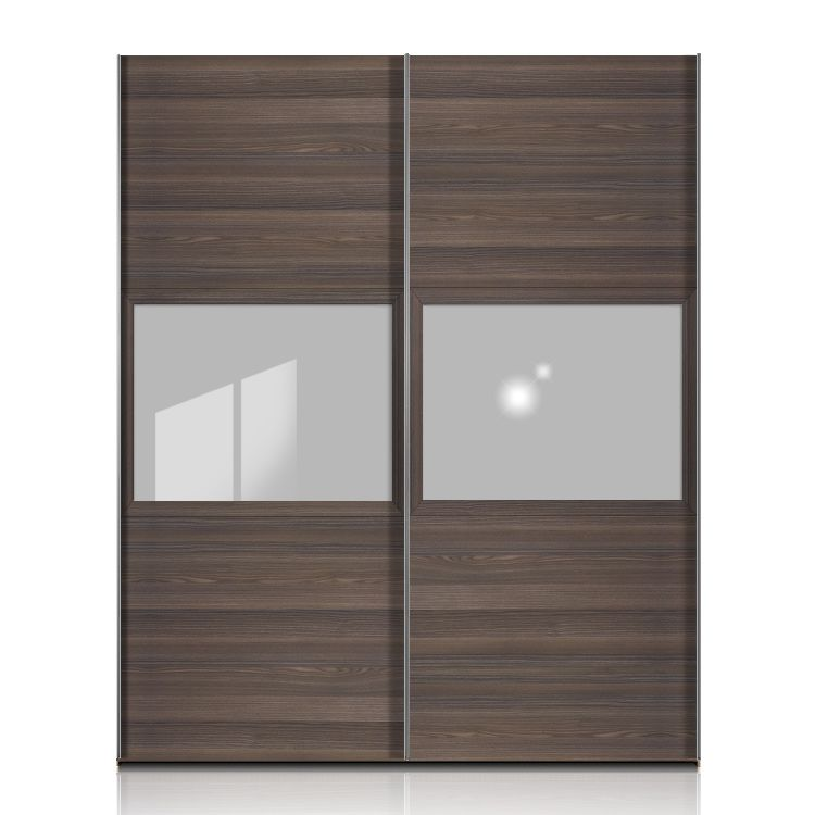 schwebet renschrank trio esche dunkel floatglas breite 252cm. Black Bedroom Furniture Sets. Home Design Ideas