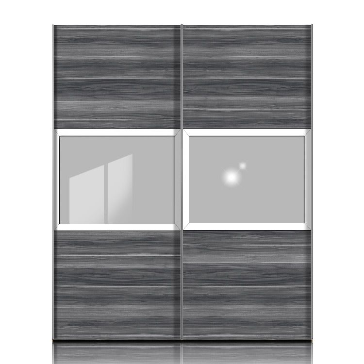 schwebet renschrank trio h213 nussbaum grau wei. Black Bedroom Furniture Sets. Home Design Ideas