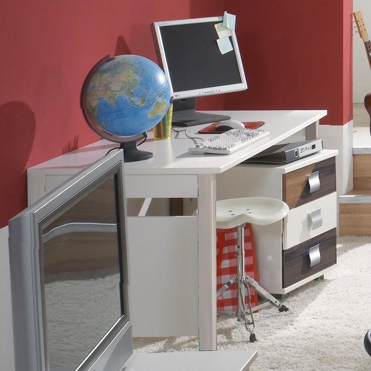 schreibtisch jette wei absetzung wei wimex g nstig kaufen. Black Bedroom Furniture Sets. Home Design Ideas