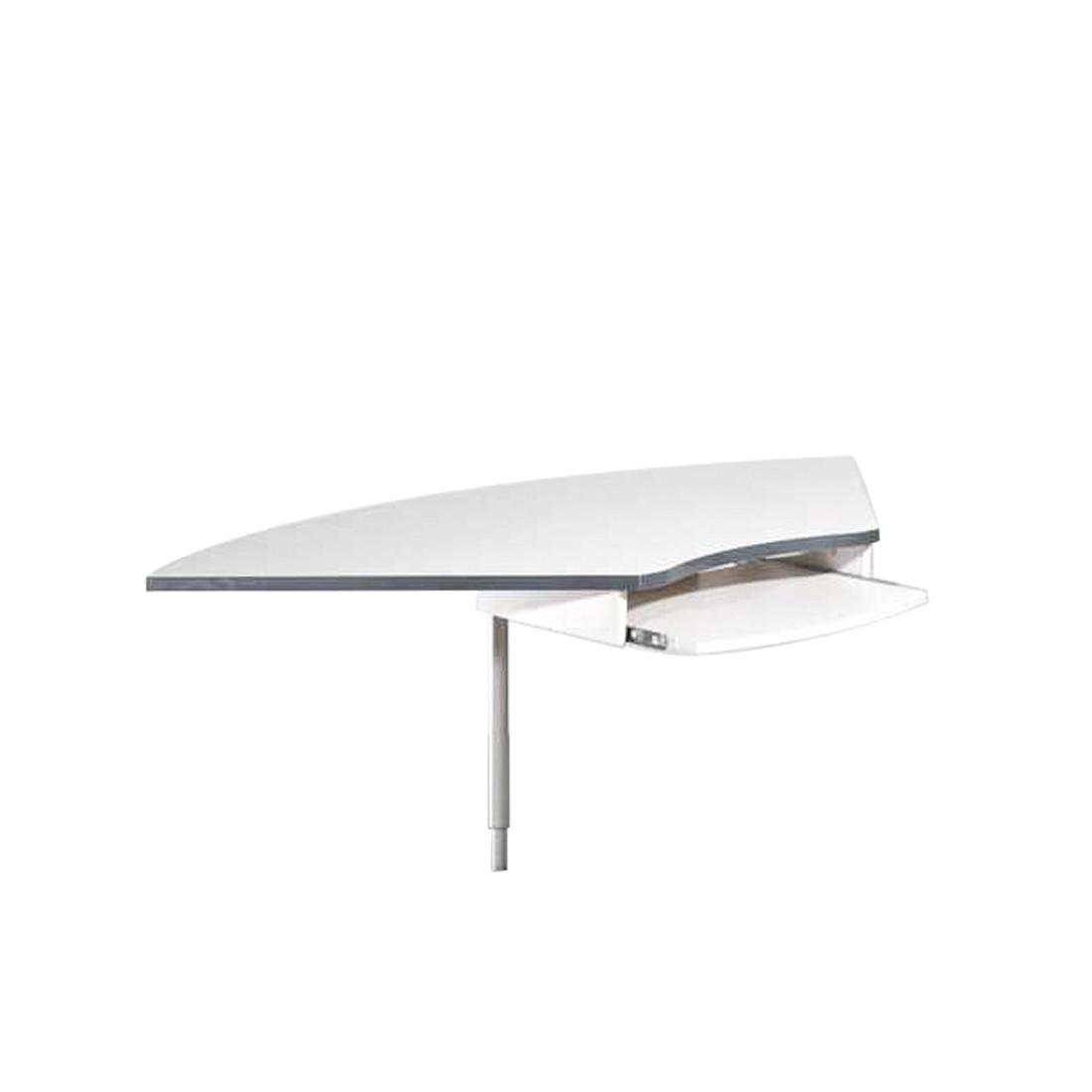 Eckverbindung Avero - Höhenverstellbar, mit Tastaturauszug - lichtgrau, home24 office