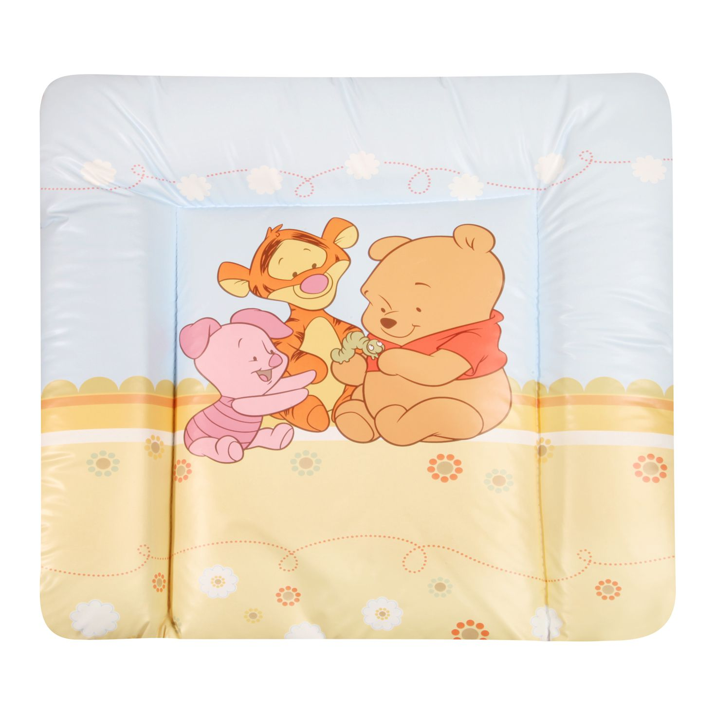 Wickelauflage Baby Pooh and Friends (Folie) - Blau/Bunt mit Motiven