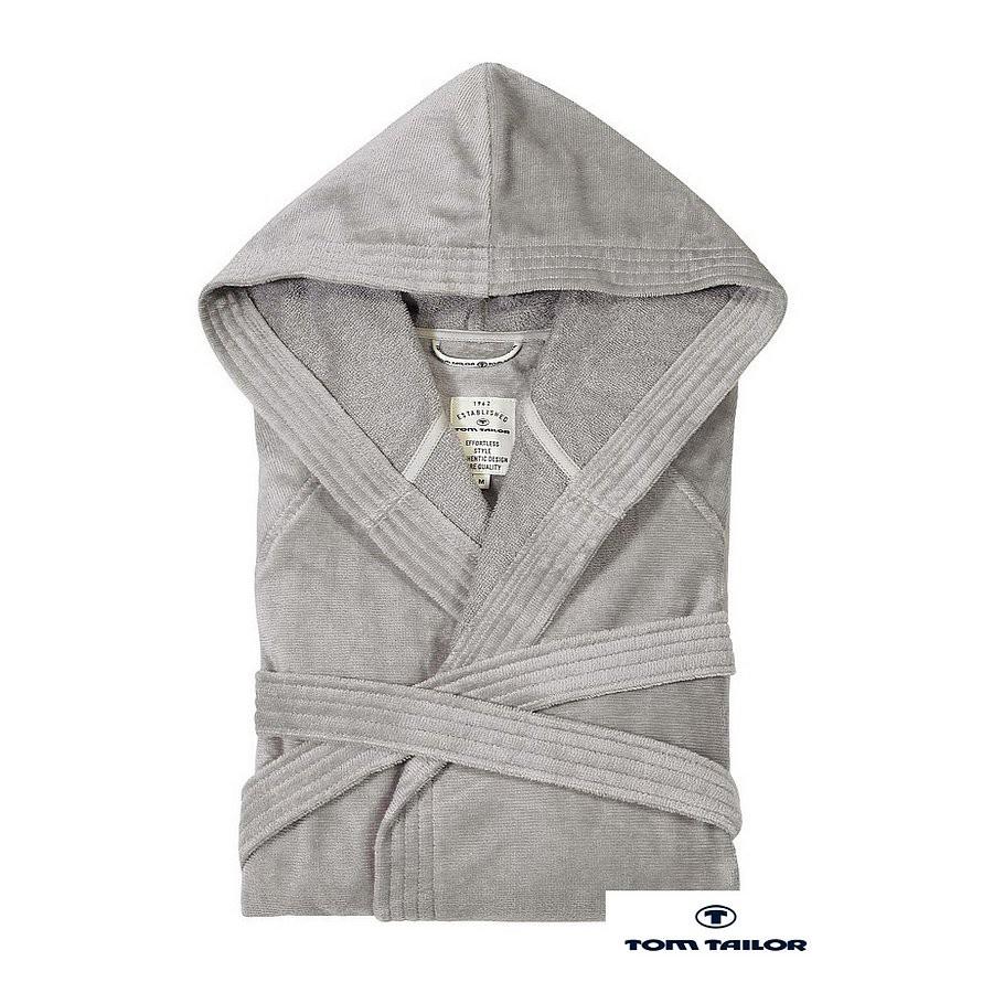 Badjas - zilverkleurig - S, Tom Tailor