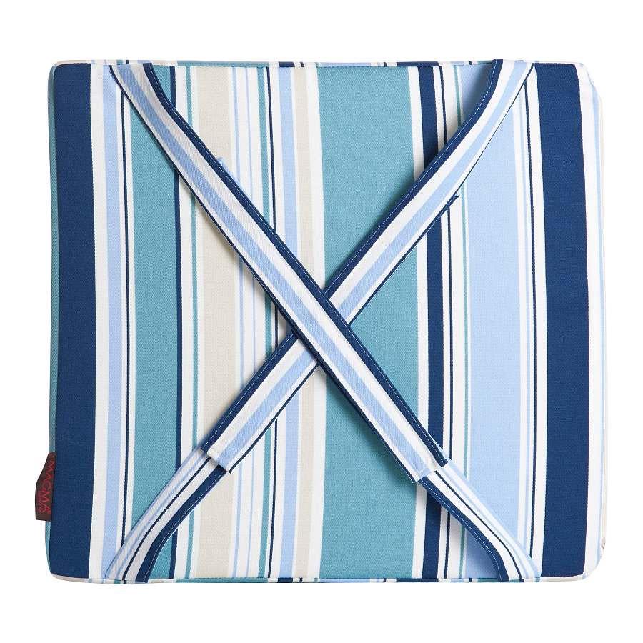 In- & Outdoor Bankkissen Sina – Blau/Streifen – 38x40x4 cm, Magma-Heimtex online kaufen