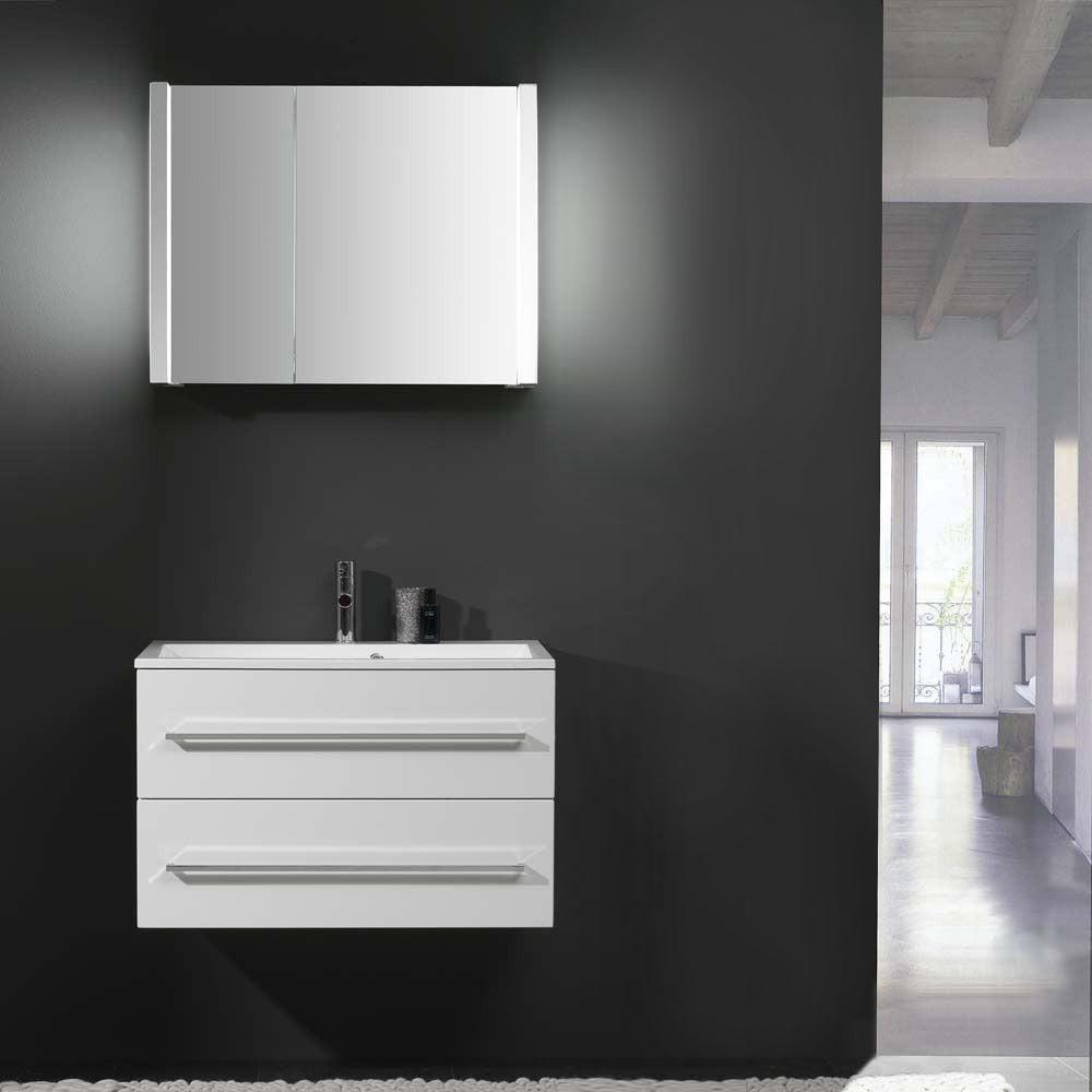 eek b waschplatz beat 120 hochglanz wei mit keramik waschtisch thebalux g nstig. Black Bedroom Furniture Sets. Home Design Ideas