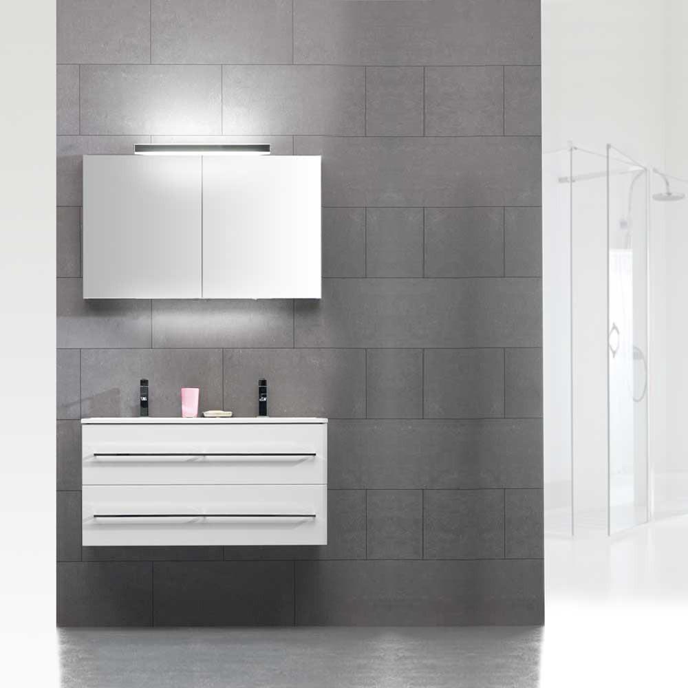 EEK B, Waschplatz Beat 20 – Hochglanz Weiß – mit Mineralmarmor-Waschtisch, Thebalux jetzt kaufen