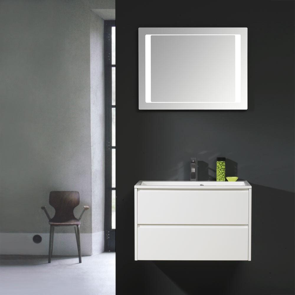 Waschplatz Beat 60 – Hochglanz Weiß – mit Keramik-Waschtisch, Thebalux online kaufen