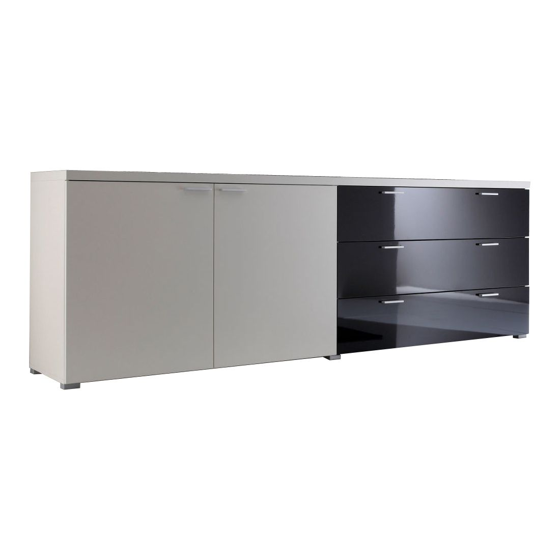 sideboard highlife wei schwarz sideboard highlife mit 2 t ren in wei 3 schubk sten in. Black Bedroom Furniture Sets. Home Design Ideas