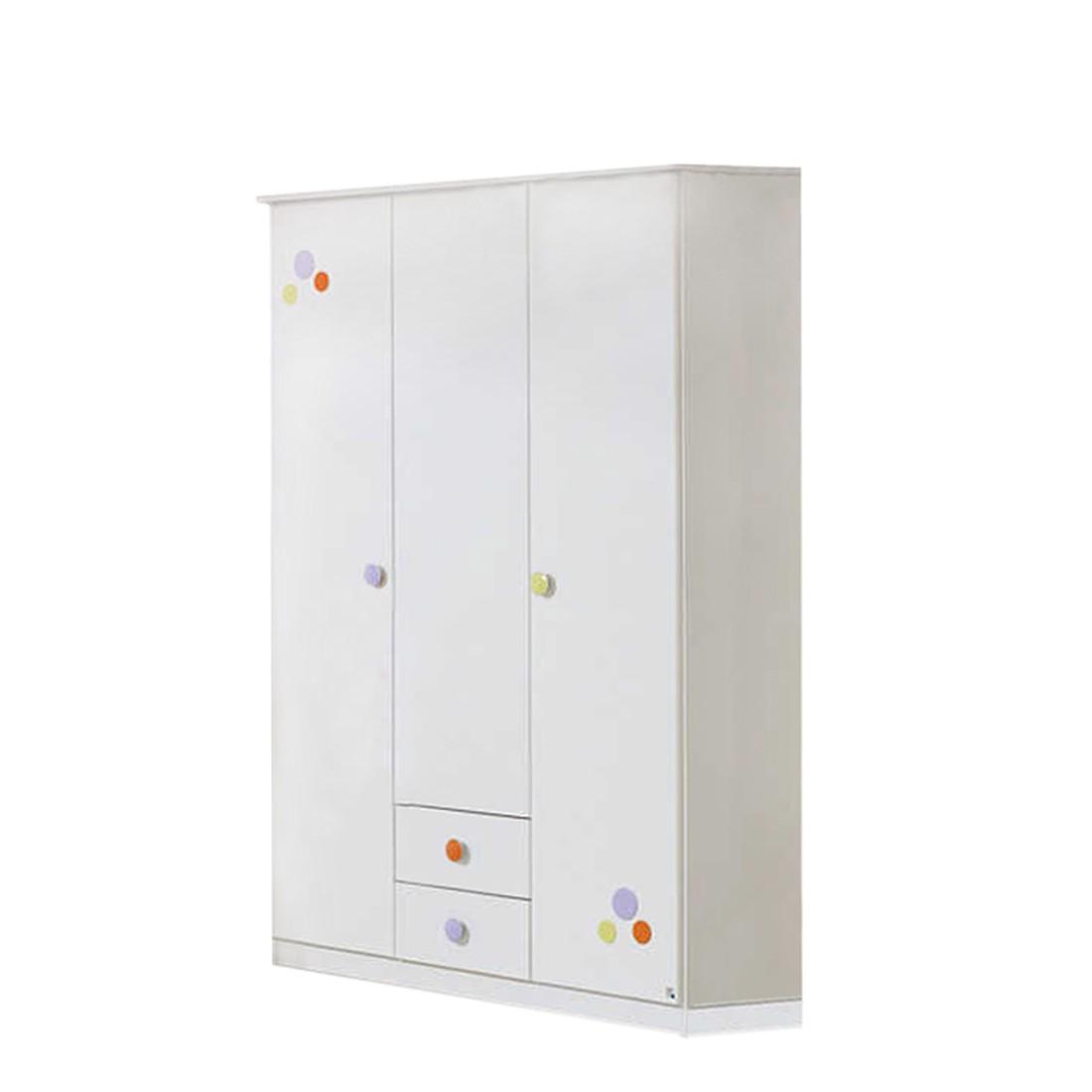 Kleiderschrank Benita - 3-türig - Weiß